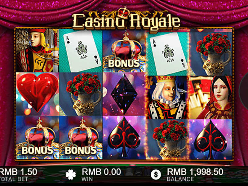 illustration of a gaming machine Casino Royale