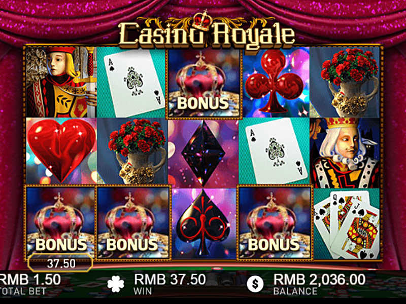 illustration of a gaming machine Casino Royale 2